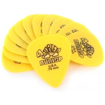Dunlop Tortex Yellow .73mm Guitar Picks (12 Pack)