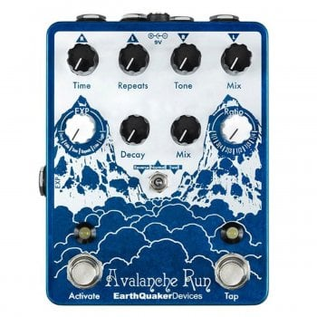 EarthQuaker Devices Avalanche Run V2 Stereo Delay & Reverb Pedal