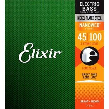 Elixir 14052 Nanoweb Electric Bass Strings Light 45 - 100 Long Scale