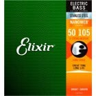 Elixir 14702 Nanoweb Electric Bass Strings Medium 50 - 105 Long Scale