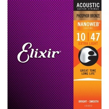 Elixir Nanoweb Extra Light 10-47 Coated Acoustic Guitar Strings