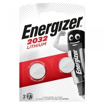 Energizer CR2032 Lithium 3V Battery Twin Pack