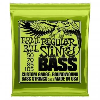 Ernie Ball 2832 Regular Slinky Nickel Round Wound Bass Strings 50-105