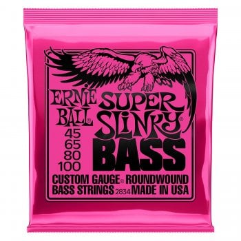 Ernie Ball 2834 Super Slinky Nickel Round Wound Bass Strings 45-100