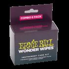 Ernie Ball 4279 Wonder Wipes Instrument Care Kit - Combo Pack 6