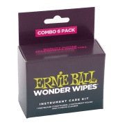 Ernie Ball 4279 Wonder Wipes Instrument Care Kit - Combo Pack 6