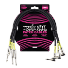 Ernie Ball 6076 1.5ft Patch Cables - 3 Pack, Black