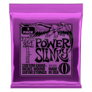 Ernie Ball Power Slinky Guitar Strings 3 Pack