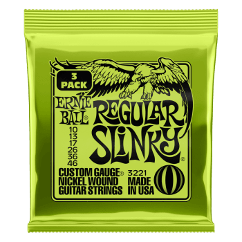 Ernie Ball Regular Slinky Guitar Strings 3 Pack