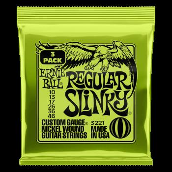 Ernie Ball Regular Slinky Guitar Strings 3 Pack