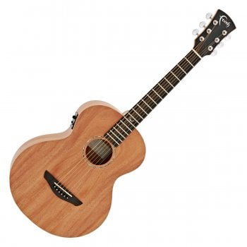 Faith FDNMG Nomad Mini-Neptune Electro Acoustic Guitar, Solid Mahogany