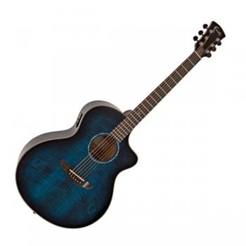 Faith FNCE-BLM Neptune Cut Electro-Acoustic Guitar, Blue Moon