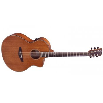 Faith FNCEMG Mahogany Gloss Neptune Electro-Acoustic Guitar with Hard Case