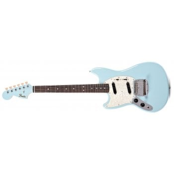 Fender 2019 Limited Edition MIJ Traditional '60S Mustang Left-Handed Electric Guitar in Sonic Blue