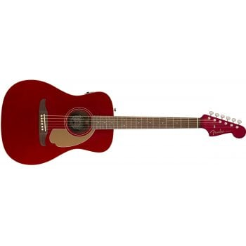 Fender California Series Malibu Player Electro-Acoustic Guitar - Candy Apple Red