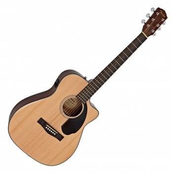 Fender CC-60SCE Concert Electro-Acoustic Guitar, Walnut Fingerboard, Natural
