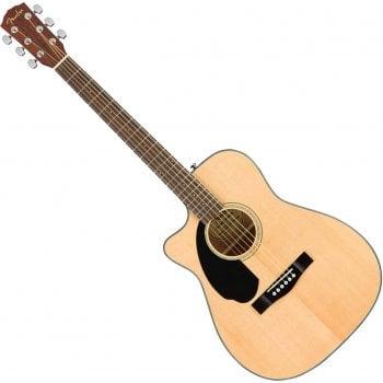 Fender CC-60SCE Concert, Left Handed Electro-Acoustic Guitar, Natural