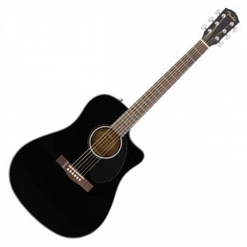 Fender CD-60SCE Dreadnought Electro-Acoustic Guitar, Walnut Fingerboard, Black
