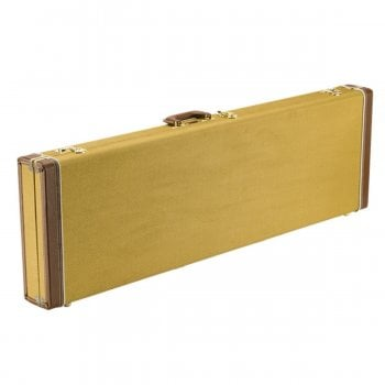 Fender Classic Series Wood Case for Precision Bass/Jazz Bass Guitar - Tweed