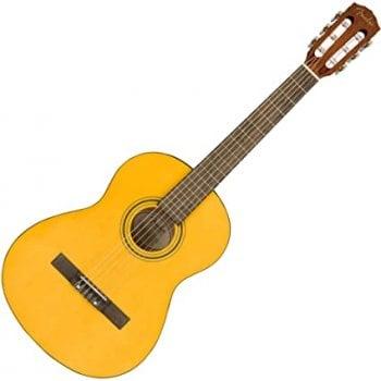 Fender ESC80 Educational Series 3/4 Size Nylon String Guitar, Vintage Natural