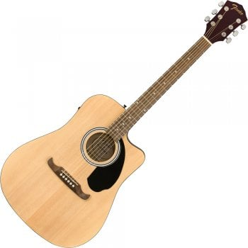 Fender FA-125CE Dreadnought Electro-Acoustic Guitar, Walnut Fingerboard, Natural