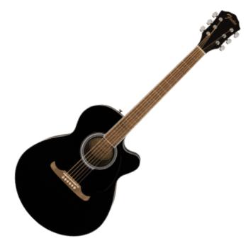 Fender FA-135CE Concert Electro-Acoustic Guitar, Walnut Fingerboard, Black
