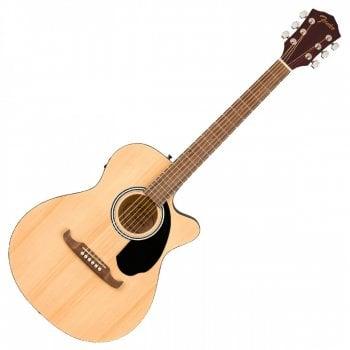 Fender FA-135CE Concert Electro-Acoustic Guitar, Walnut Fingerboard, Natural