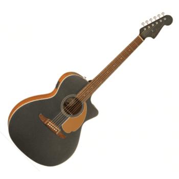 Fender FSR Newporter Player Electro-Acoustic Guitar, Charcoal Frost Metallic