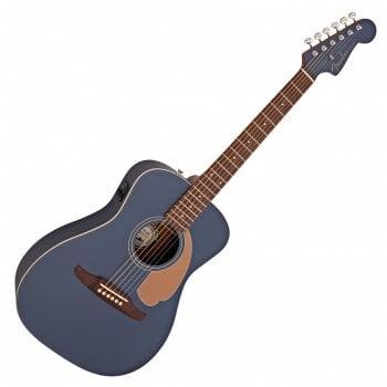 Fender Malibu Player Electro-Acoustic Guitar, Walnut Fingerboard, Midnight Satin