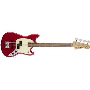 Fender Mustang Short-Scale PJ Bass Pau Ferro - Torino Red