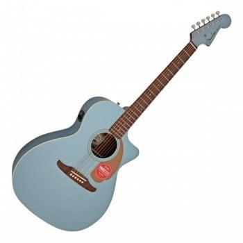 Fender Newporter Player Electro-Acoustic Guitar - Ice Blue Satin