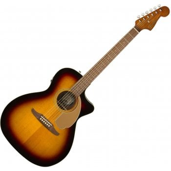 Fender Newporter Player Electro Acoustic Guitar in Sunburst  with Walnut Fingerboard