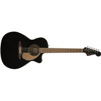 Fender Newporter Player Electro-Acoustic Guitar- Jetty Black