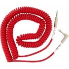Fender Original Series Coil Cable Straight/Angled - 9m - Fiesta Red