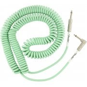 Fender Original Series Coil Cable Straight/Angled - 9m - Surf Green