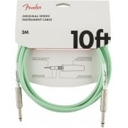 Fender Original Series Instrument Cable Straight to Straight - Surf Green
