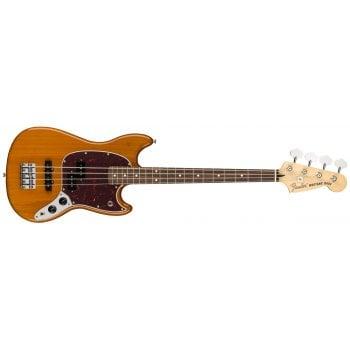 Fender Player Series Mustang PJ Bass Guitar - Aged Natural