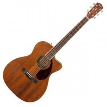 Fender PM-3 Triple-0 Acoustic Guitar, Ovangkol Fingerboard, All-Mahogany, Hardcase Included