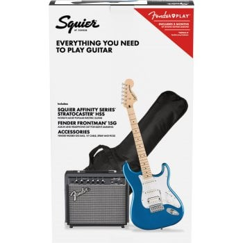 Fender Squier Affinity Stratocaster HSS Pack With Frontman 15G Amplifier - Lake Placid Blue