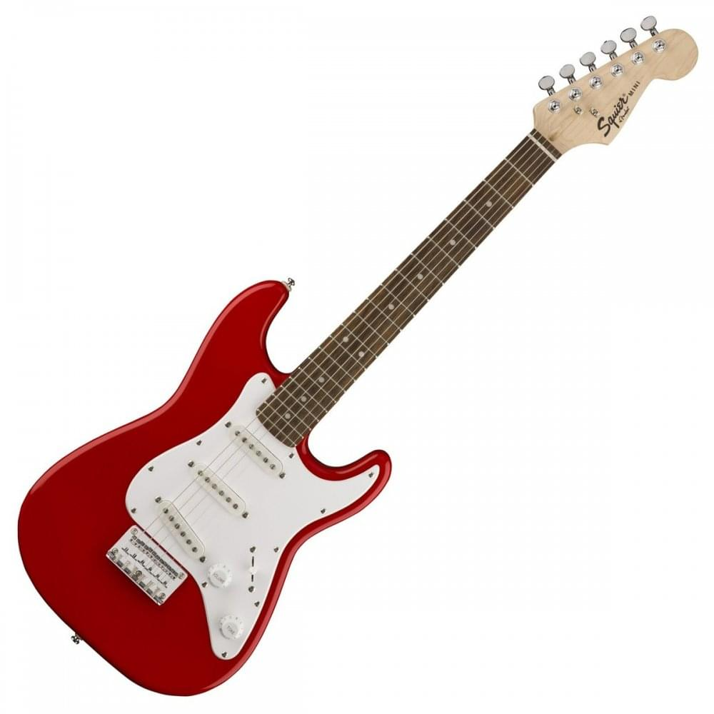 squier mini strat 3 4 size electric guitar in torino red