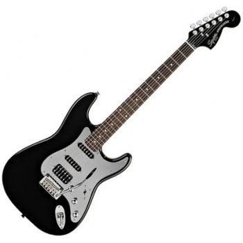 Fender Squier Standard Black & Chrome Fat Strat Special Edition - Black Mirror