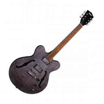 Hofner HI-VTH-BK Verythin Semi-Hollow Guitar, UK Exclusive - Black Stain