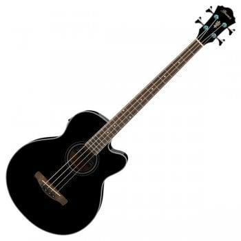 Ibanez AEB8E Electro-Acoustic Bass Guitar - Black High Gloss