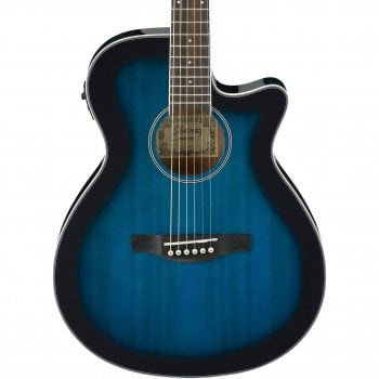 Ibanez AEG8E-TBS Electro-Acoustic Guitar - Transparent Blue Sunburst