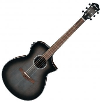 Ibanez AEWC11-TCB Electro Acoustic Guitar - Transparent Charcoal Burst