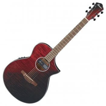 Ibanez AEWC32FM-RSF Electro Acoustic Guitar - Red Sunset Fade