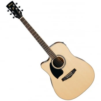 Ibanez PF15LECE-NT Natural Left Handed Electro-Acoustic Guitar
