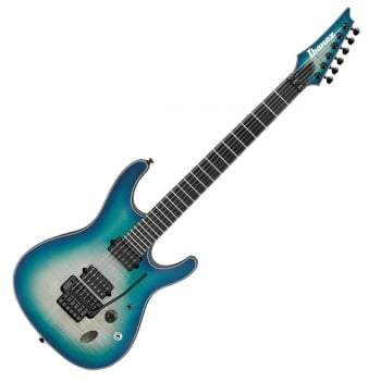 Ibanez SIX6DFM-BCB Iron Label Electric Guitar (Blue Space Burst)