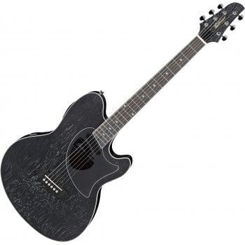 Ibanez Talman TCM50-GBO Electro-Acoustic Guitar - Galaxy Black Open Pore