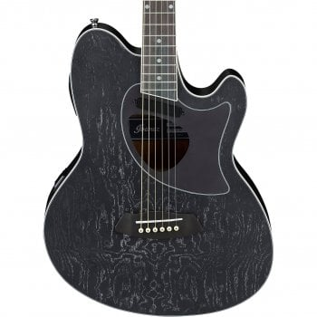 Ibanez Talman TCM50-GBO Electro-Acoustic Guitar - Galaxy Black Open Pore